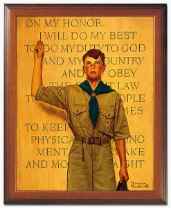 Boy Scout With Oath