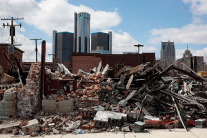 Rubble in Detroit